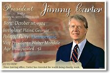 Presidential Series - U.S. President Jimmy Carter New Classroom School Poster