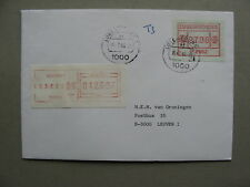 LUXEMBOURG, cover to Belgium 1984, ATM vendingmachine stamp, postage due