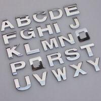 DIY A-Z 0-9 3D Alphabet Letters Auto Car Sticker Self Adhesive Badge Emblem New