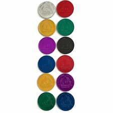 Recovery Mint Aluminum AA Meeting Newcomer Chips - Set of 12