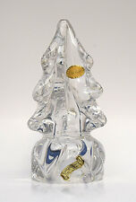 """Vintage 7"""" Crystal Glass Christmas Tree Waltersperger Made in France Decoration"""