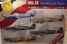 ITALERI 1:48 SCALE AMERICAN ACES WWII SPITFIRE Mk.IX FIGHTER PLASTIC MODEL KIT