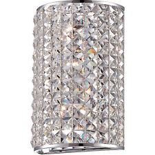 "Quoizel BRI8801C Crystal Wall Sconce 10.5""H x 7""W Polished Chrome, 2-Light"