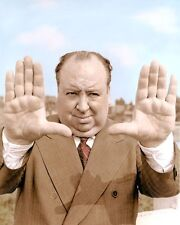 "ALFRED HITCHCOCK ACTOR DIRECTOR PRODUCER 8x10"" HAND COLOR TINTED PHOTOGRAPH"