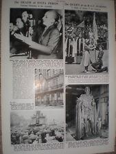 Photo article Death of Evita Peron Argentina 1952 refO50s