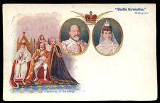 Royalty Coronation EDWARD VII Double Coronation u/b PPC Weldons Bazaar advert