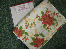 "TABLECLOTH HOLIDAY STYLE FABRIC 60 ""X  84 ""  OR ( 54"" X  70"" ) 100% POLYESTER."