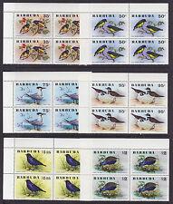 Barbuda Sc 238-243 Mnh. 00004000  1976 Birds cplt, sheet corner blocks of 4, Vf