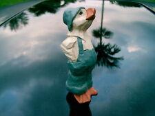 """Haywood B 4.5 """" Hand Painted Hardwood? Duck Figurine"""