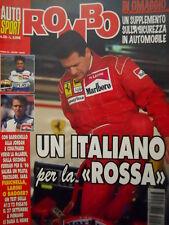 Auto & Sport ROMBO 38 1995 con inserto su sicurezza - Un italiano alla ROSSA