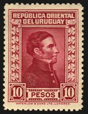 Uruguay 1933 High denomination Artigas #384 MH SUPERB centrated cv$150