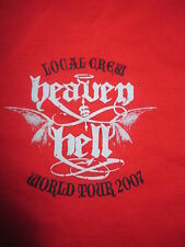 2007 HEAVEN & HELL CREW Concert (XL) T-Shirt RONNIE JAMES DIO BLACK SABBATH