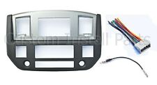 NEW 2006-09 Dodge Ram Radio Double Din Dash Install Bezel Kit Silver Slate Grey
