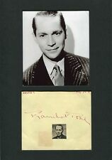 Franchot Tone autograph, signed album page mounted