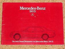 1984 MERCEDES BENZ 190D sales brochure-Marché Allemand