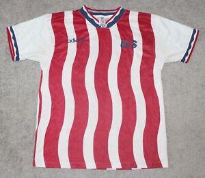 1994 USA SOCCER Jersey Men's LARGE L Stripes ADIDAS vtg 90s US United States