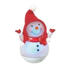 Lighted LED Roly Poly Mini Snowman Christmas Wonderlight Figurine