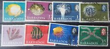 Barbados stamps.Fish,shell,coral,sea urchin