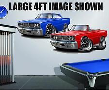 1966 Dodge Coronet 426 HEMI 4ft Long Wall Graphic Decal Sticker Man Cave Decor