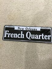FRENCH QUARTER. NEW ORLEANS License Plate