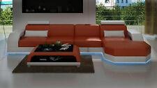 Eck Sofa Couch Polster Sitz Leder Garnitur Wohnlandschaft LForm LINZII