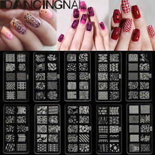 10 Design Beauty Nail Art Stamp Stencil Stamping Template Plate Set Tool Stamper