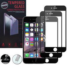 3 Films Verre Trempe Protecteur Protection NOIR pour Apple iPhone 6/ iPhone 6S