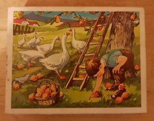 Vintage Wooden Block Farm Puzzle x6 / 1070's - Ex Condition / Checked & Complete
