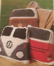 R38 - Knitting Pattern - VW Campervan Cushion Cover