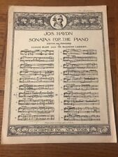 Jos. Haydn Sonatas For The Piano No. 7 Vintage Sheet Music