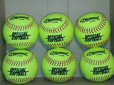 Diamond 11 Inch Synthetic Optic Cover Softballs Lot of 6 11Yos _B5