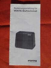 VENTA Duftautomat, originale Bedienungsanleitung 10½ x 21 cm; 13 g Luftwäscher