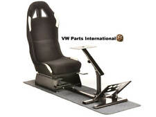 Car Gaming Chair Racing Simulator Frame Bucket Seat Black/White PS4 PS3 XBox PC