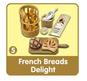 Re-Ment Bread & Butter #5, French Breads, 1:6 Barbie scale kitchen food minis