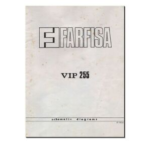 FARFISA VIP255 Service Manual repair Schematic Diagram Schaltplan Schema VIP-255