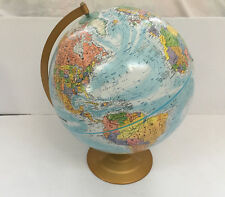 vintage globemaster 12 inch round globe  raised mountain surface home study