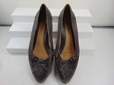 CLARKS (MADE IN BRAZIL) BROWN SOFT LEATHER LOW HEEL PUMP 5 1/2 M $150.00!!