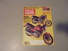 JANUARY 1982 CYCLE GUIDE MAGAZINE,SUZUKI GS750E,HUSKY 430CR,HONDA MB5,YAMAHA VIR