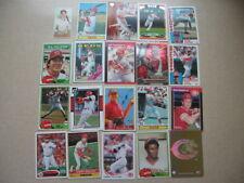 Lot of 20 Cincinnati Reds baseball cards. 1970s-present, HOF, chrome, RC