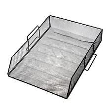 3Layer Metal Mesh Desktop File Organizer Office Home Supply Storage Holder Desk