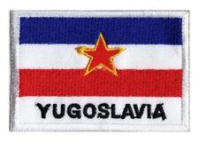 Patch brodé badge écusson patche drapeau YOUGOSLAVIE 70 x 45 mm Pays Monde
