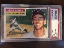 1956 TOPPS BASEBALL CARD #140 HERB SCORE PSA 8 NM-MT