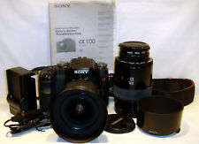 SONY A100 10.2MP DSLR Digital Camera with extras