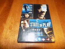 STATE OF PLAY Russell Crowe Ben Affleck Rachel McAdams Drama DVD SEALED NEW