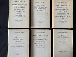 Wilhelm Dilthey - 12 Bücher - Vandenhoeck & Ruprecht - 1957 -