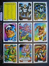 1989 COMIC IMAGES MARVEL *MIKE ZECK COLLECTION* COMPLETE 45 CARD SET + HEADER