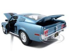 1968 FORD MUSTANG COBRA JET CJ BLUE 1/18 DIECAST MODEL CAR BY MAISTO 31167