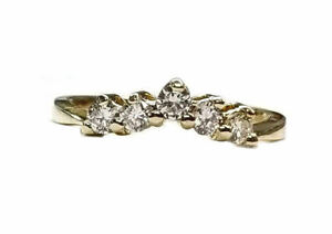 Diamond Wedding Band  With Curve to Fit Your Eng. Ring.  44pts. 14kt Yellow Gold