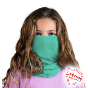 Child Gaiter Mask (Teal) Sun and Particles Protection Breathable Moisture Wickin