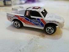 1998 HOT WHEELS Ford BAD MUDDER #8 WHITE Racing Truck 33/40 FIRST EDITION #662